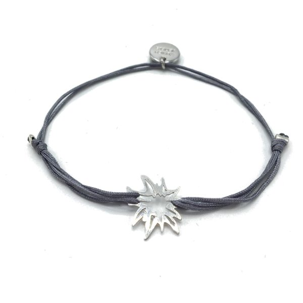 Munich Jewels Armband Silber Damen Edelweiß rhodiniert