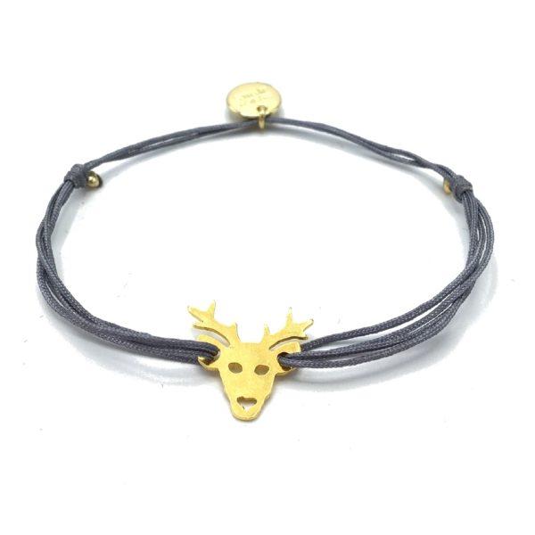 Munich Jewels Armband mit Anhänger Hirsch vergoldet