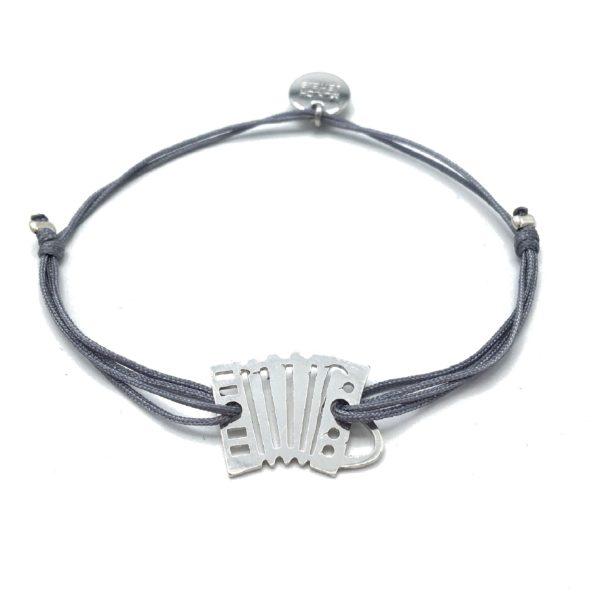 Munich Jewels Armband Akkordeon rhodiniert
