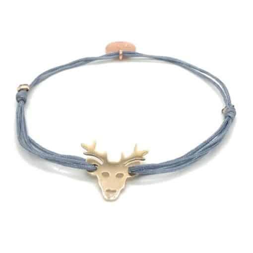 Munich Jewels Armband Hirsch rosévergoldet