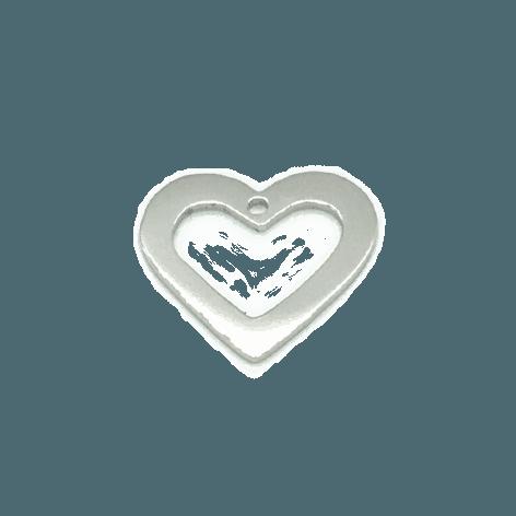 Herz rhodiniert