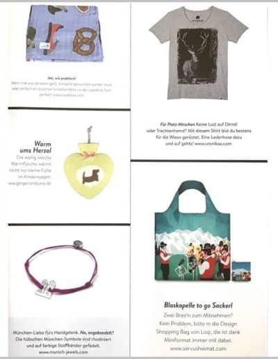 Munich Jewels @ Himbeer Magazin September 2018 Belegseite