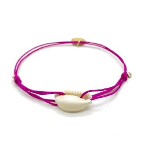 Munich Jewels Armband Isarsommer Pink mit Kauri Muschel