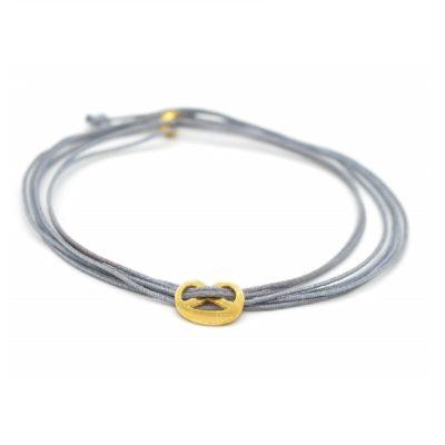 Munich Jewels Choker Mini Breze vergoldet Grau