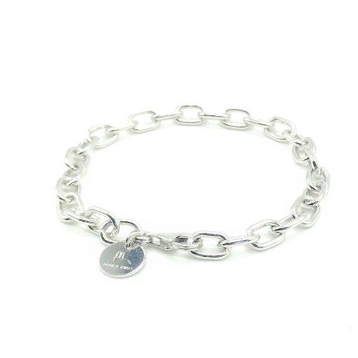 Munich Jewels Armband Ankerkette rhodiniert